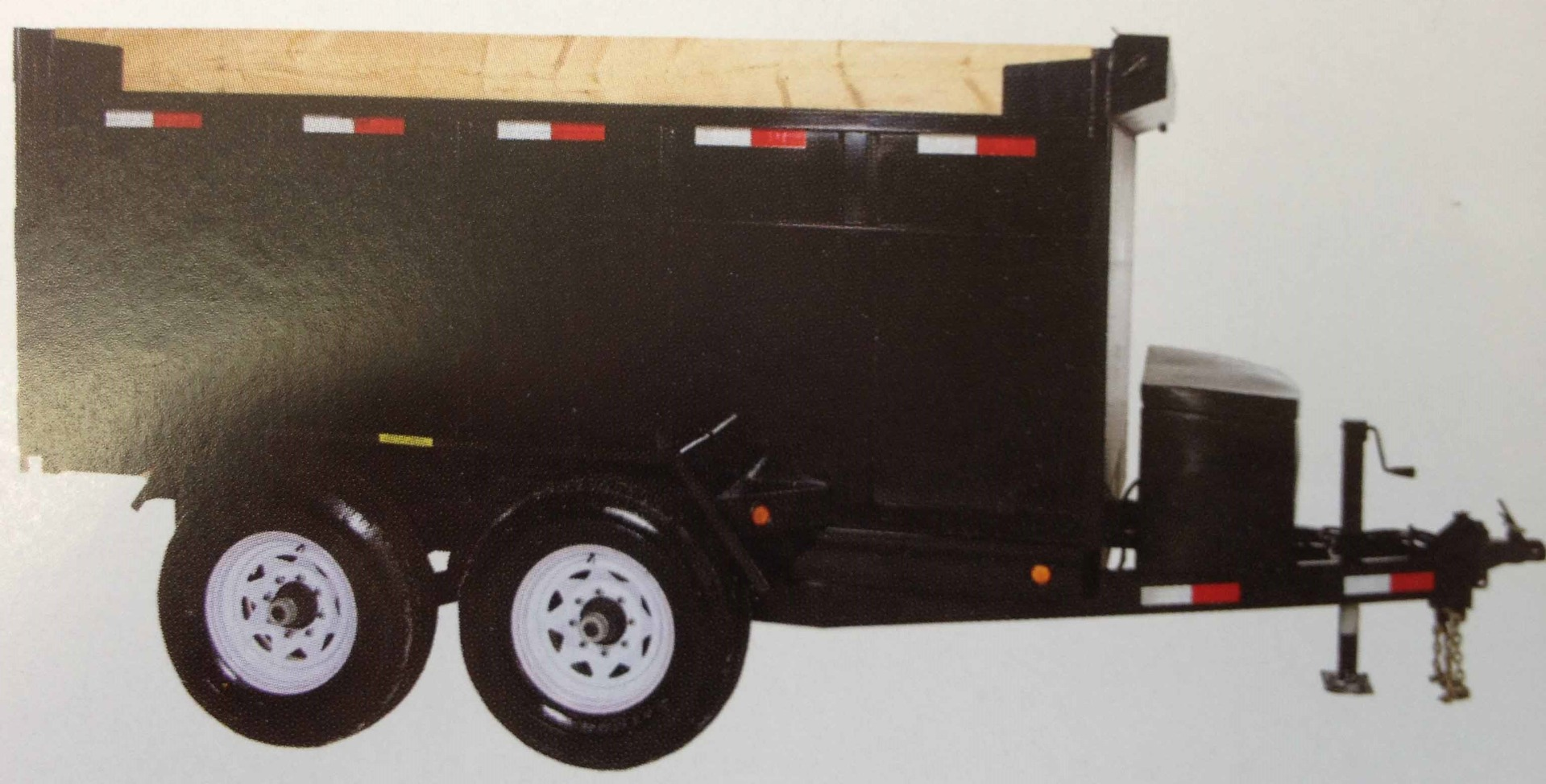 JDJ Heavy Duty Dump Tandem Trailer HDD 610 with 4' high sides (6' W x 10' L)