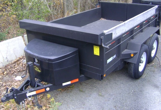 Heavy Duty Dump Tandem Trailer HDD 610 with 2' high sides by JDJ (6' W x 10' L)