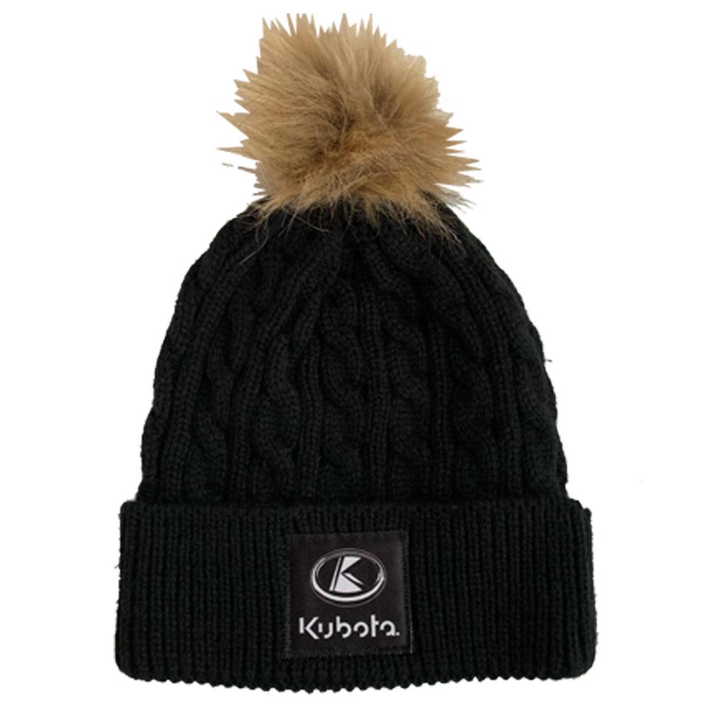 Kubota Black Pom Pom Toque
