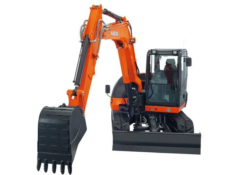 Kubota KX080-4W Excavator 8.4 Ton