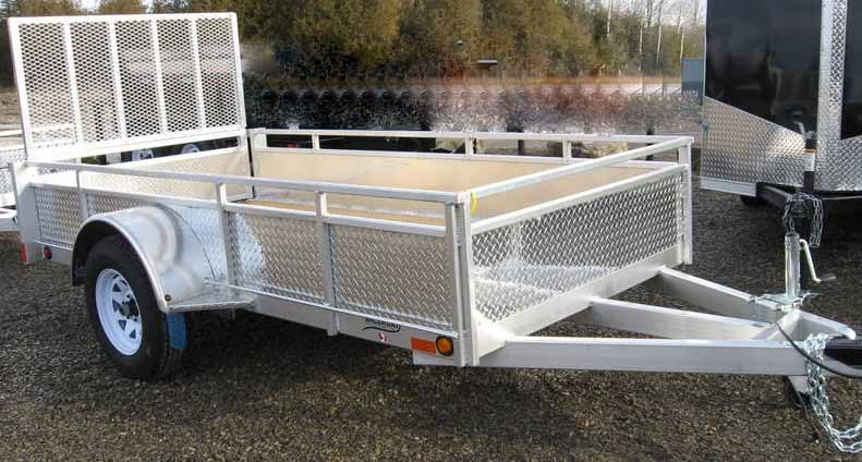 MillRoad Aluminum Custom Trailer with Solid Sides (5'x10') MS510