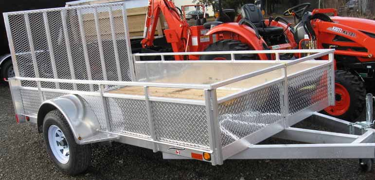 MillRoad Aluminum Custom Trailer 6'x10' with Solid Sides MS610