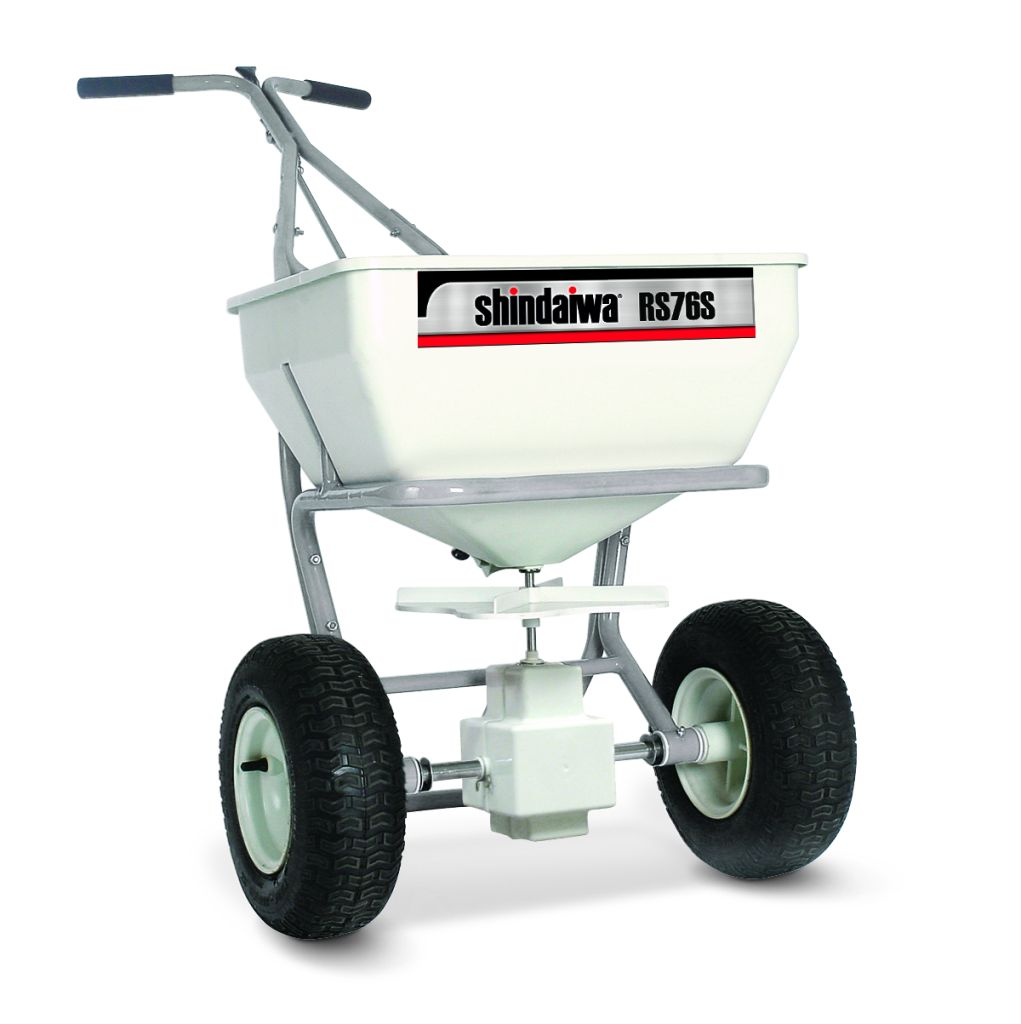 Shindaiwa 1.3cu' capacity Professional Spreader with Stainless Steel Frame model RS76S