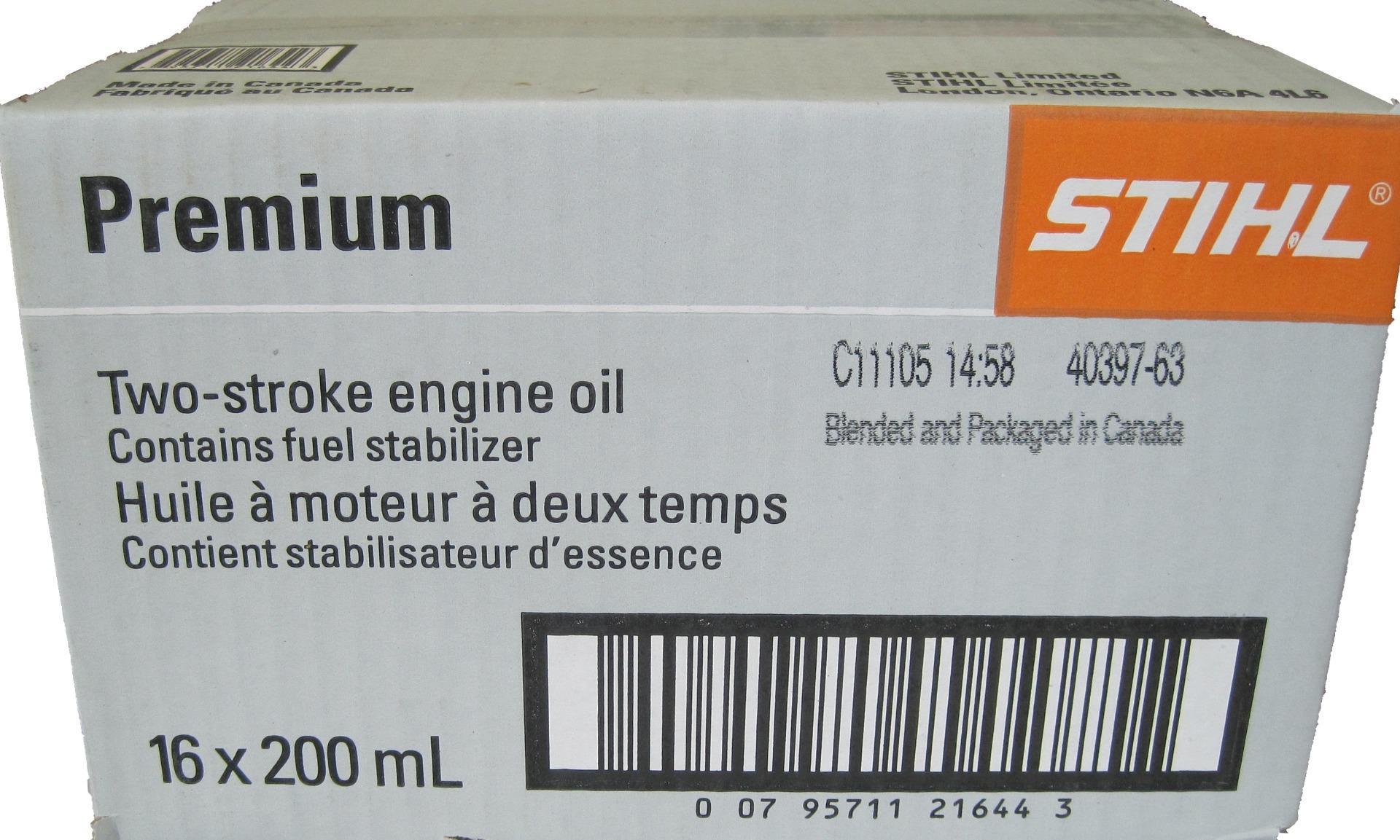 STIHL premium 2 stroke engine oil 16x200mL