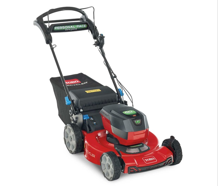 """Toro 21466 Recycler 22"""" 60V Battery Powered Lawn Mower with Personal Pace, Smart Stow and High Wheels"""