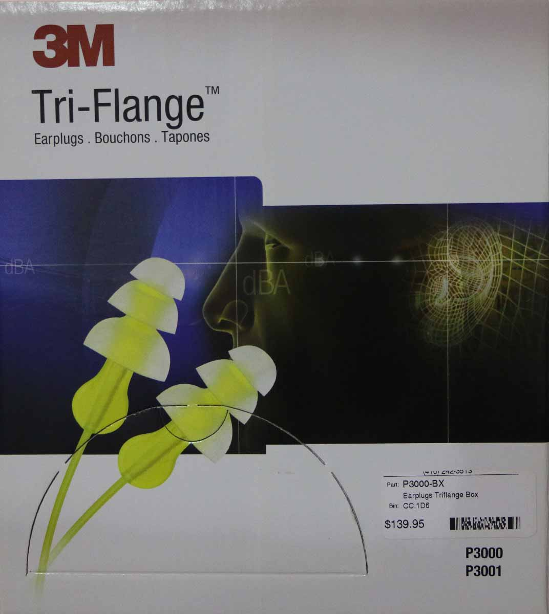 3M Tri-Flange Corded EAR plugs