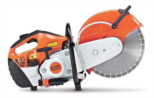 "STIHL Cut-off Saw TS 500i with electronic fuel injection and 14"" wheel"