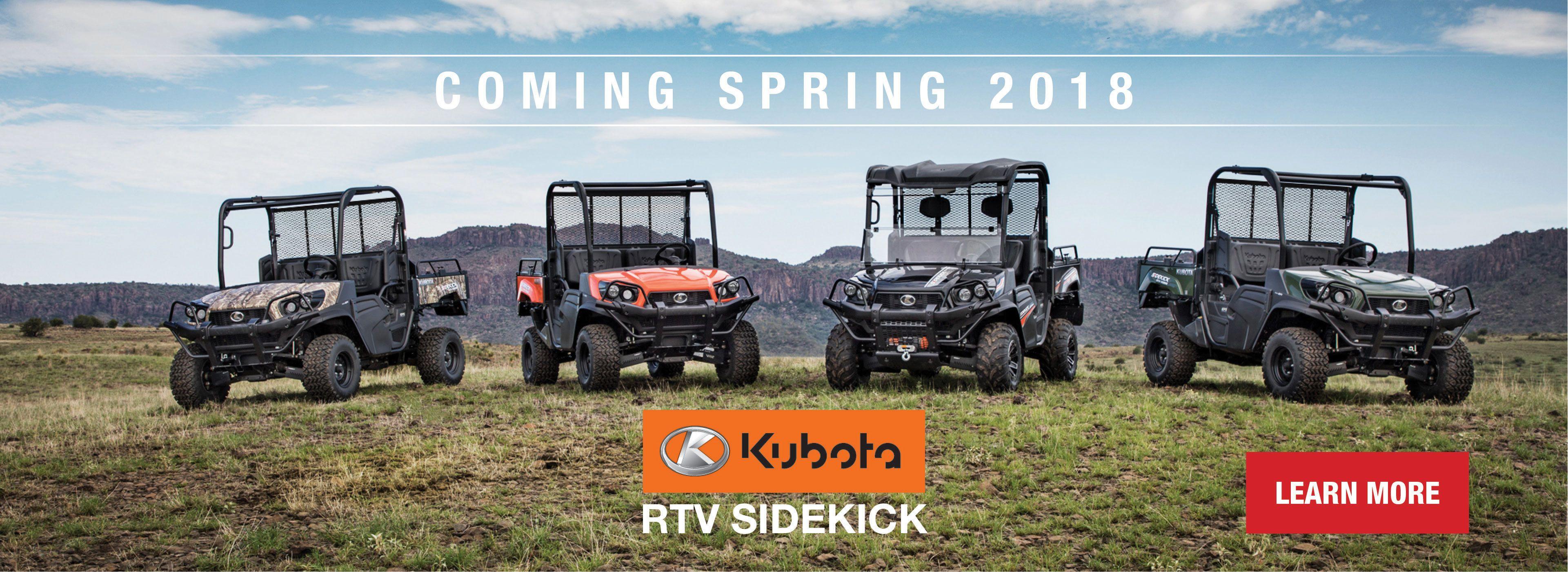 Kubota RTV Sidekick Line up