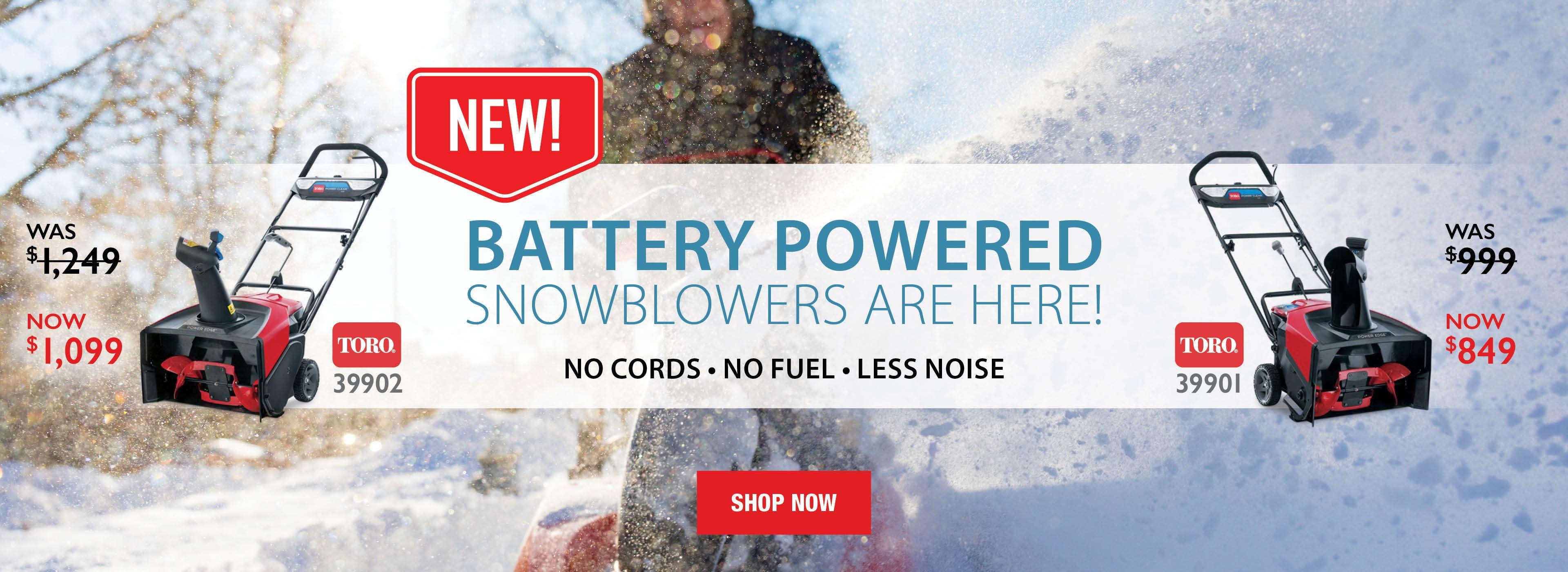 New Toro Battery Snowblowers 39902 39901