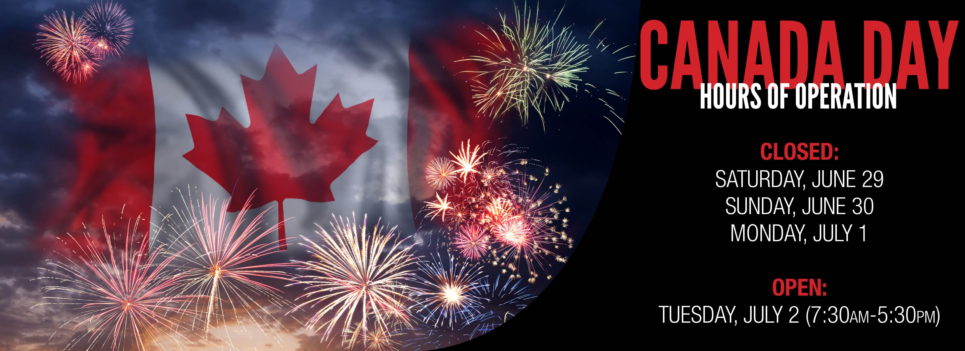 Canada Day Hours Kooy Brothers