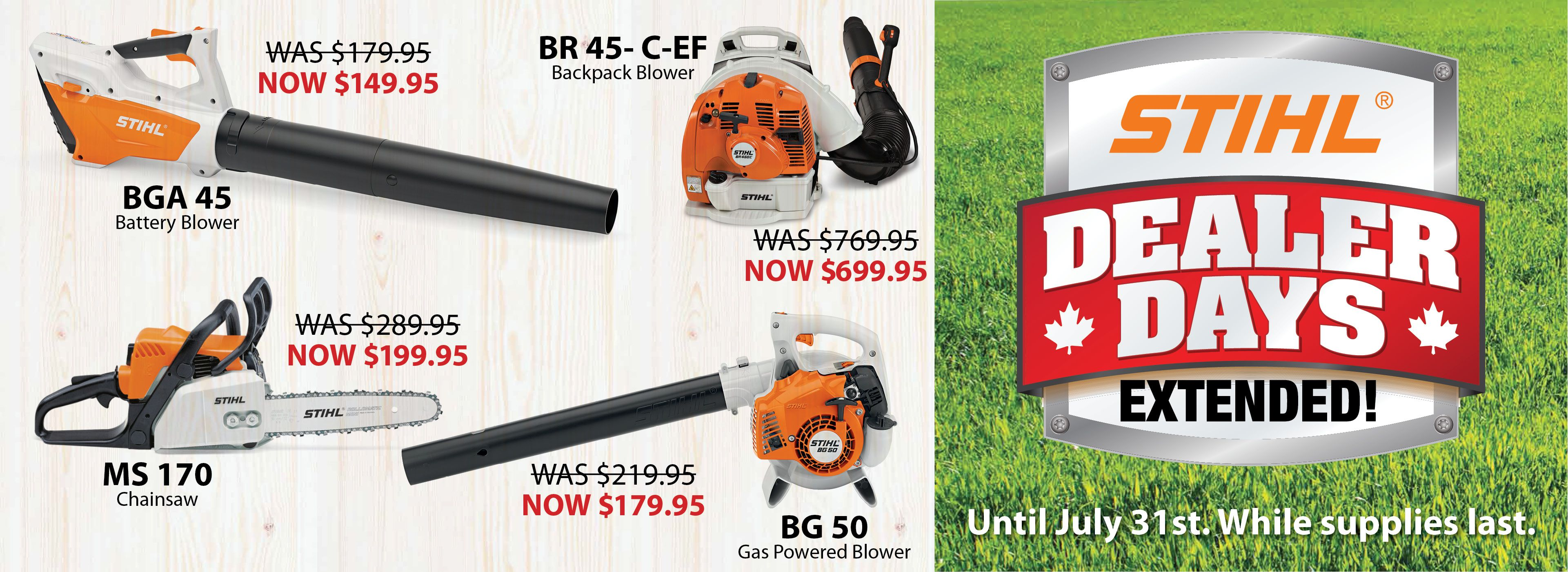 STIHL SALE EXTENDED