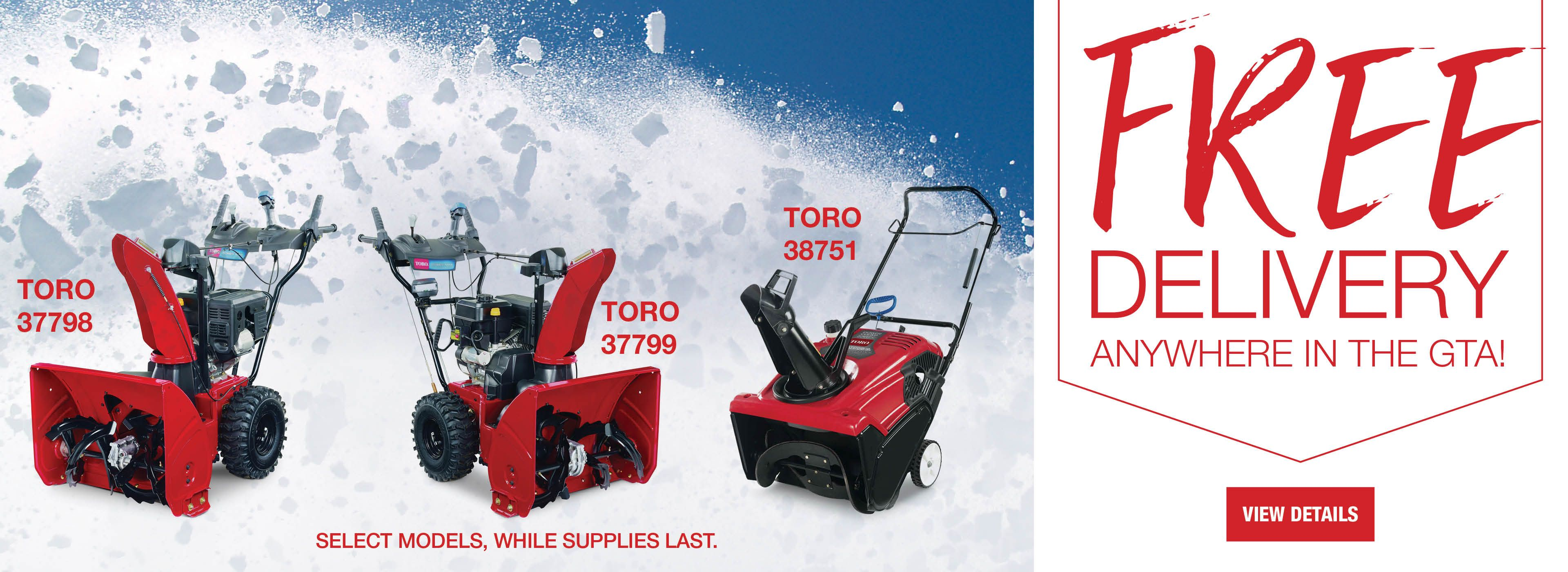 FREE Snowblower Delivery