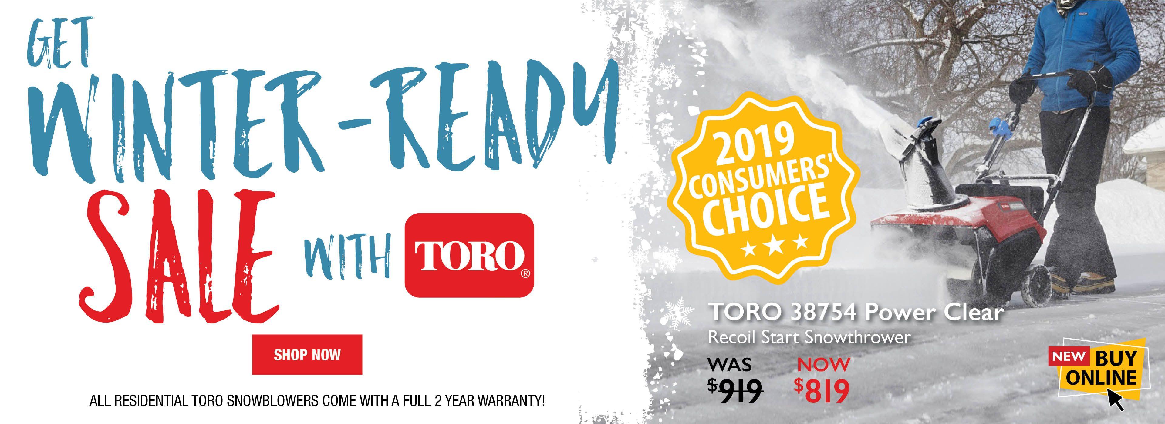 Toro Winter Warm Up Snowblower Sale 2019