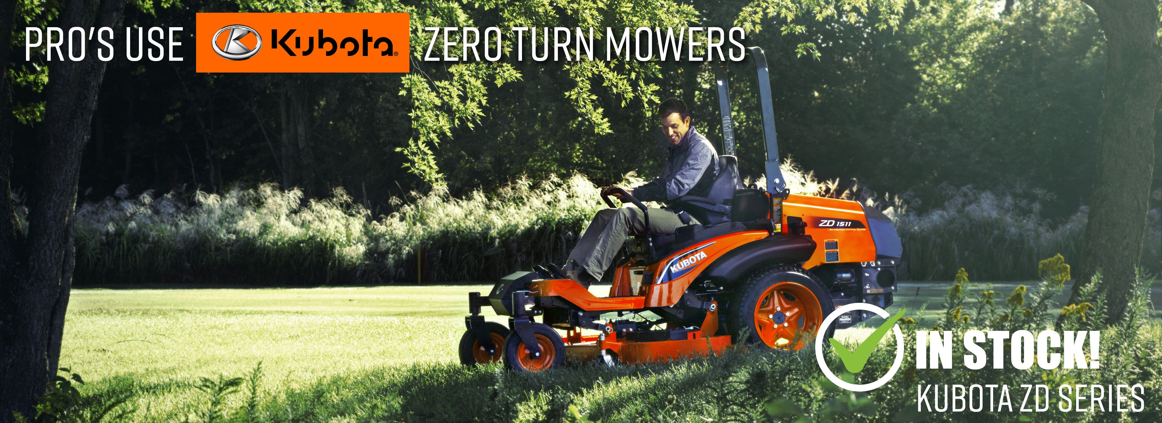 Kubota ZD Series Zero Turn Mowers