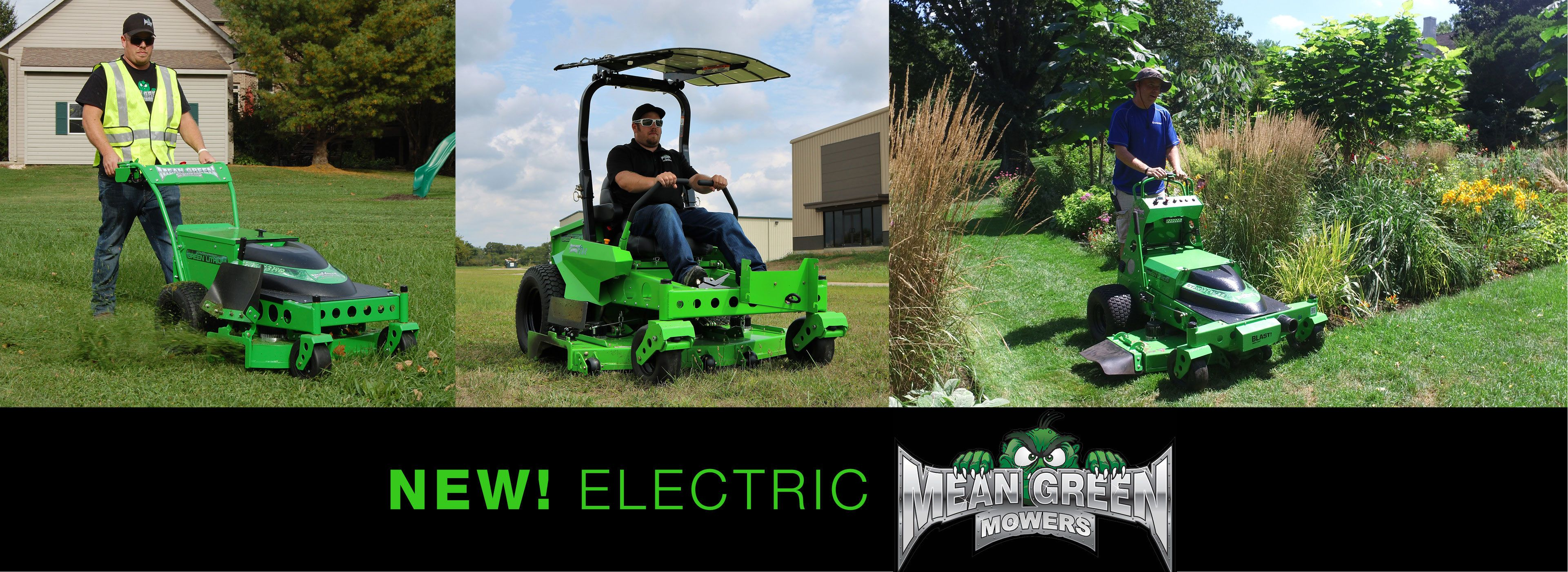 MEAN GREEN ELECTRIC MOWERS