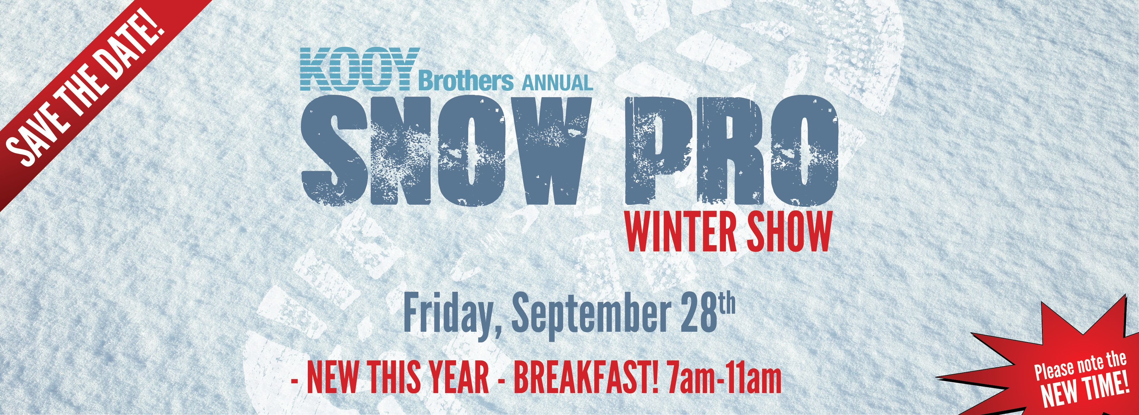 Snow Show Save The Date 2018