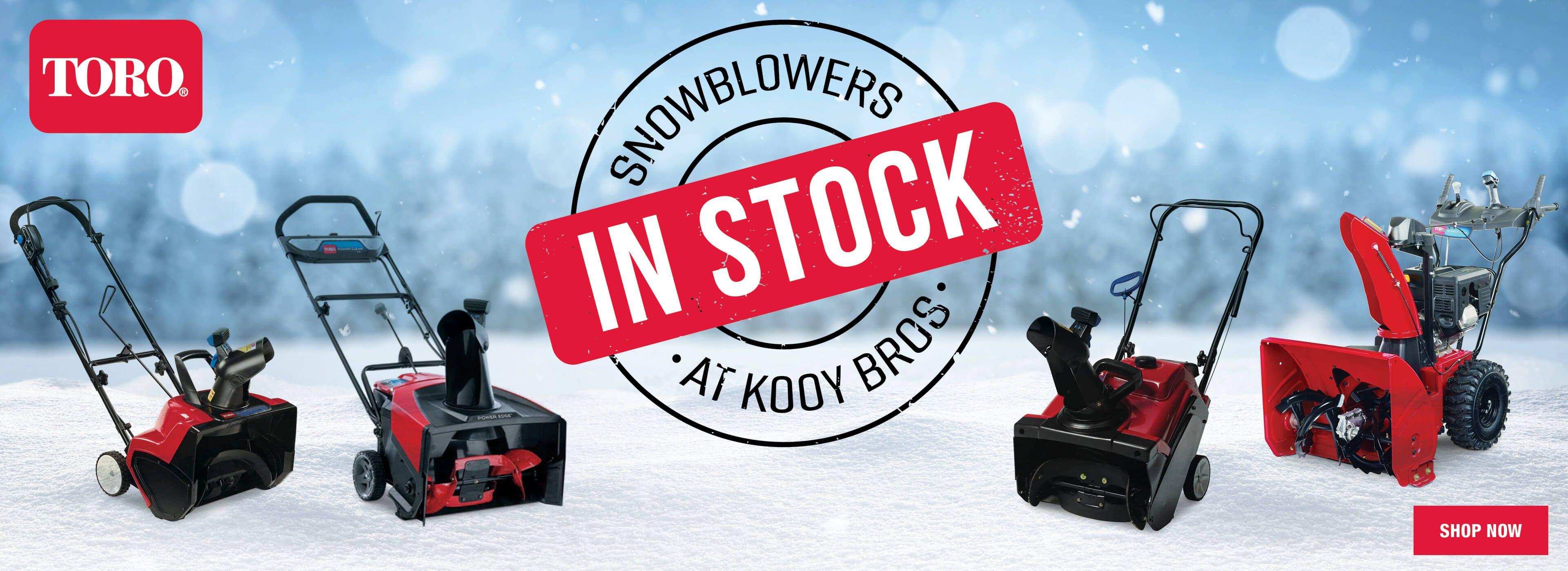 Snowblowers In Stock 2020