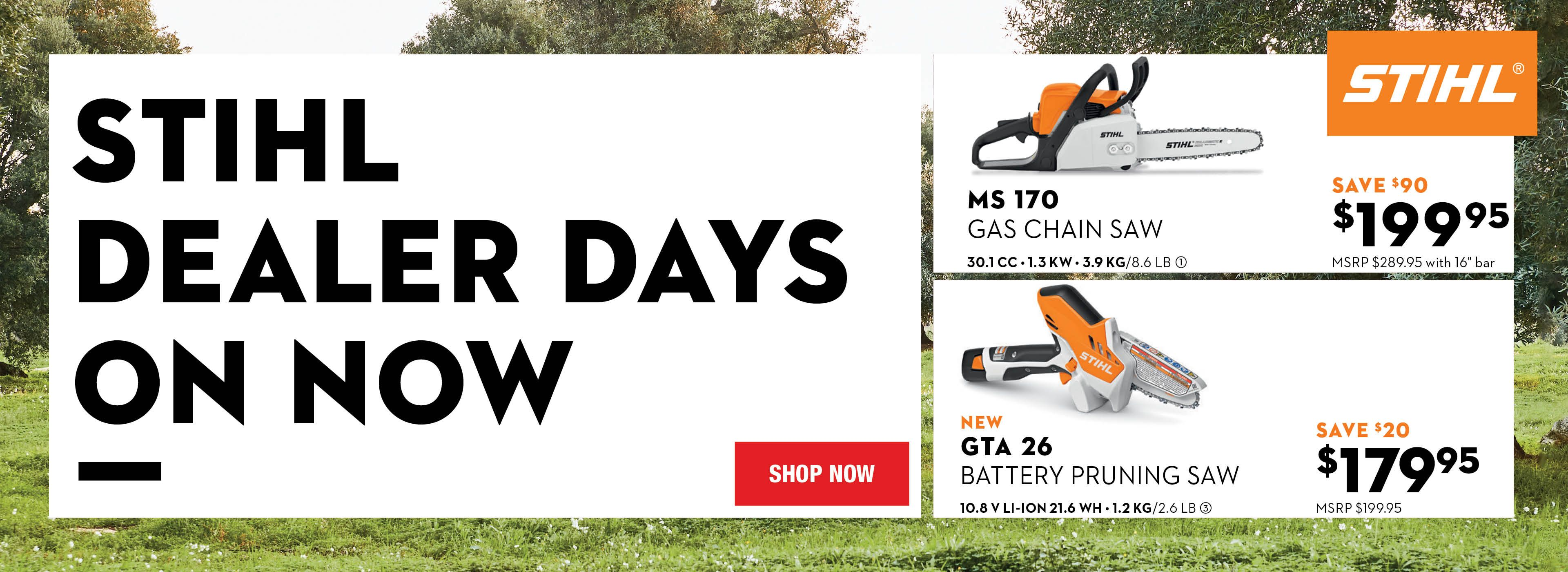 STIHL Dealer Days Sale 2020