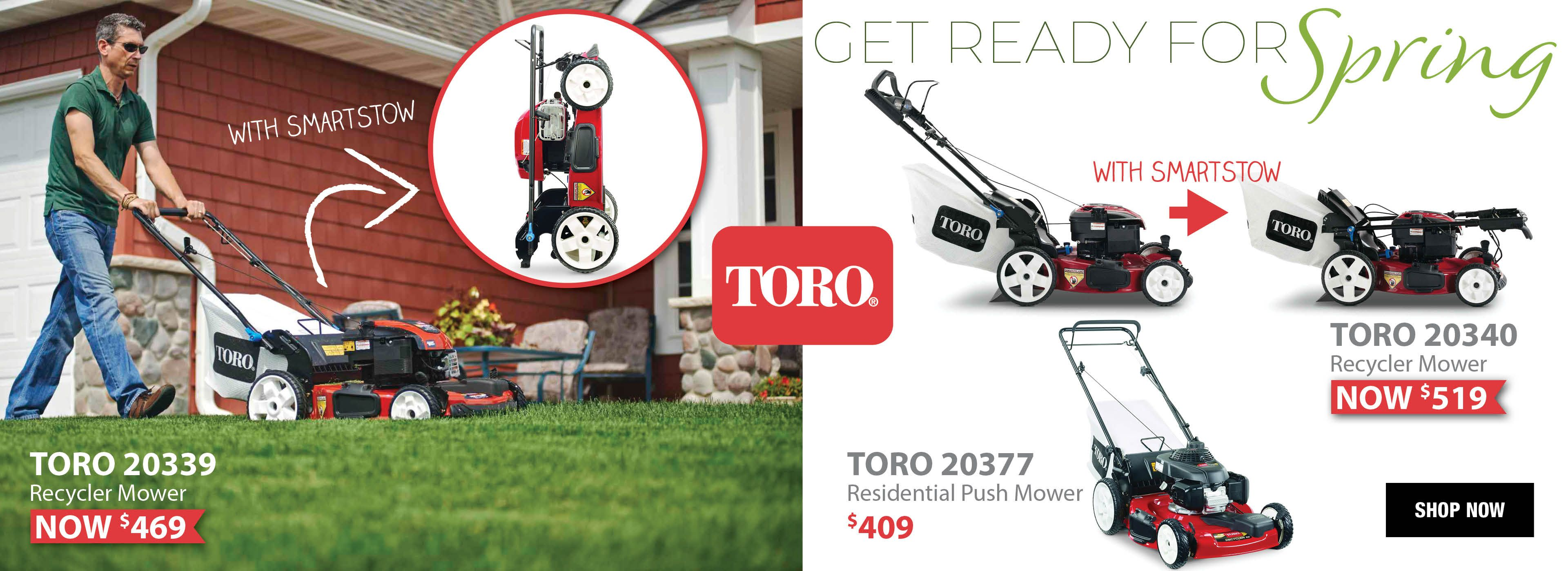 Get Ready For Spring with the Toro SmartStow Folding lawn mower