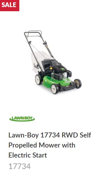 Lawn Boy electric Start