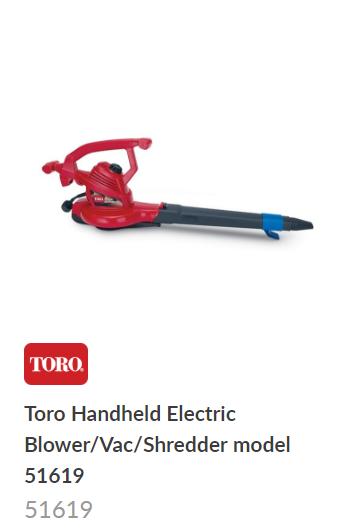 Toro Electric Blower