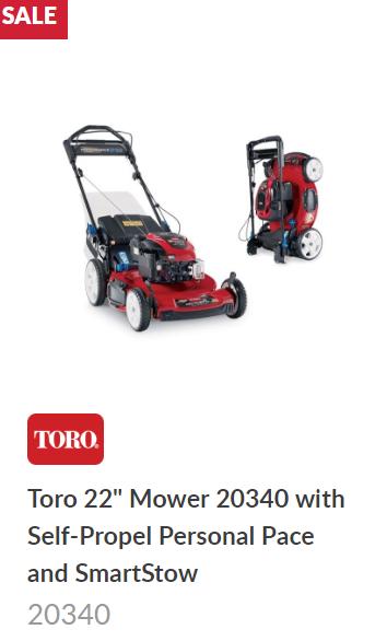 Toro Recycler SmartStow